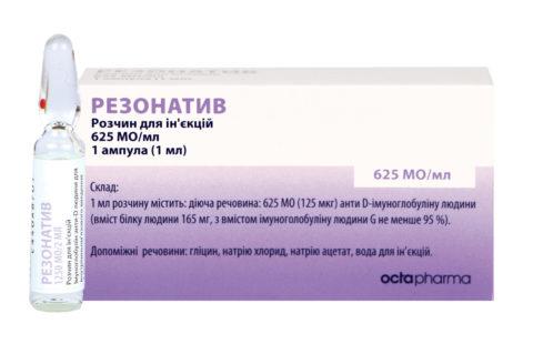 Резонатив — препарат для профилактики резус-конфликта